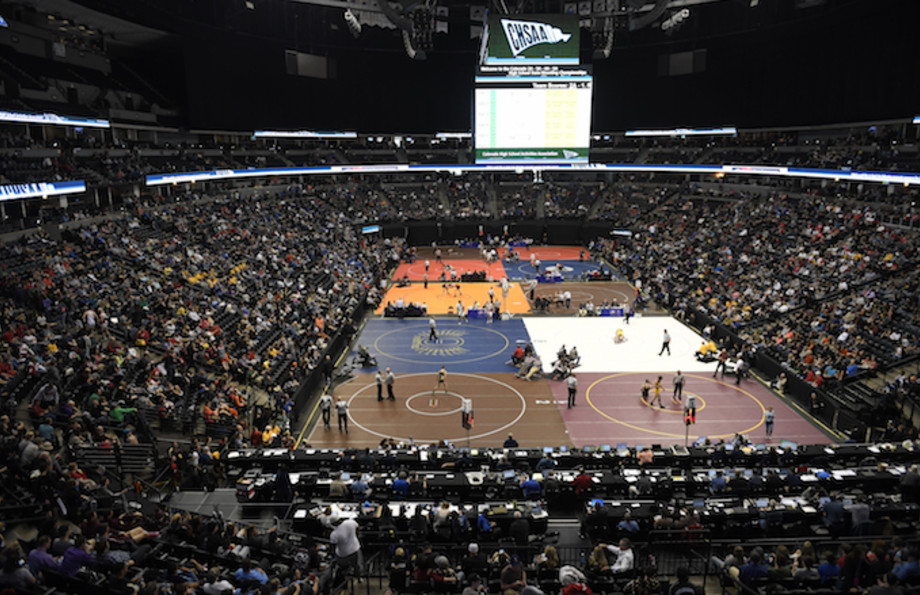 10 mats busy during the last day of the Colorado high school state wrestling tournament