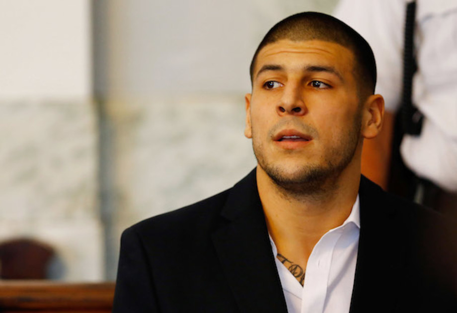This is a picture of Aaron Hernandez.