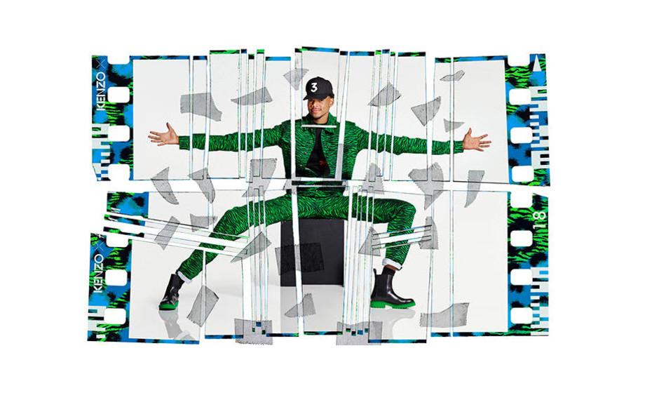 Chance the Rapper in the H&M x Kenzo campaign