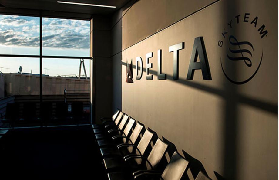 A Delta sign at Atlanta's Hartsfield–Jackson International Airport.