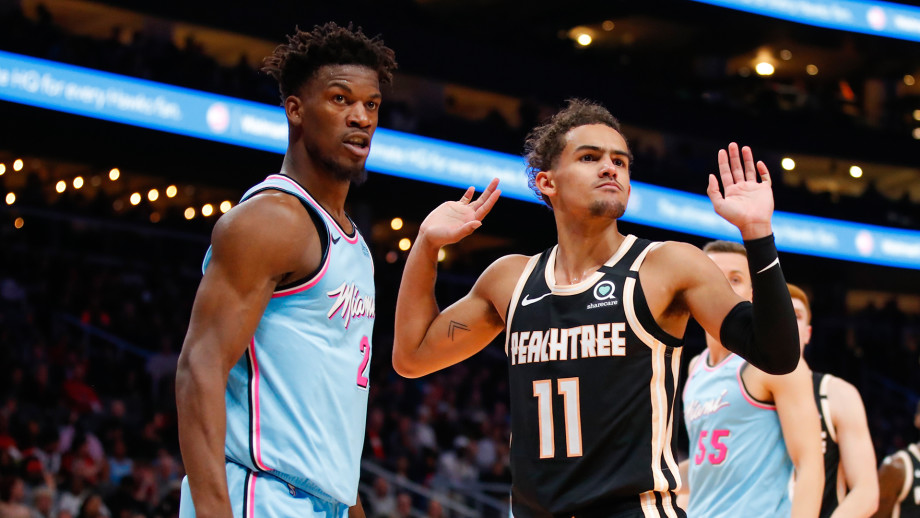 Jimmy Butler and Trae Young