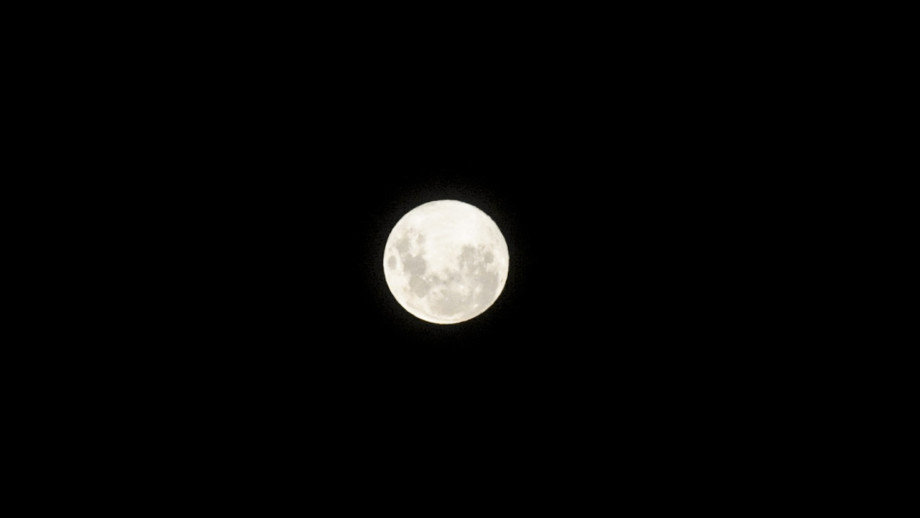 The full moon is seen in Buenos Aires, Argentina on March 20, 2019..