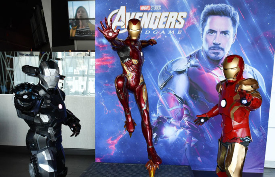 An Avengers Iron Man display.