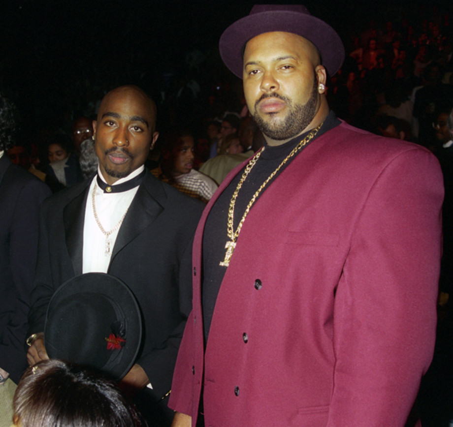 2Pac, Suge Knight (l-r) at Tyson vs. Bruno at the MGM Grand Garden Arena-Backstage and Ringside