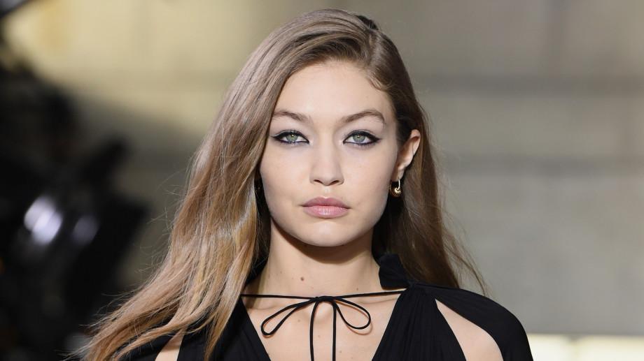 Model Gigi Hadid walks the runway
