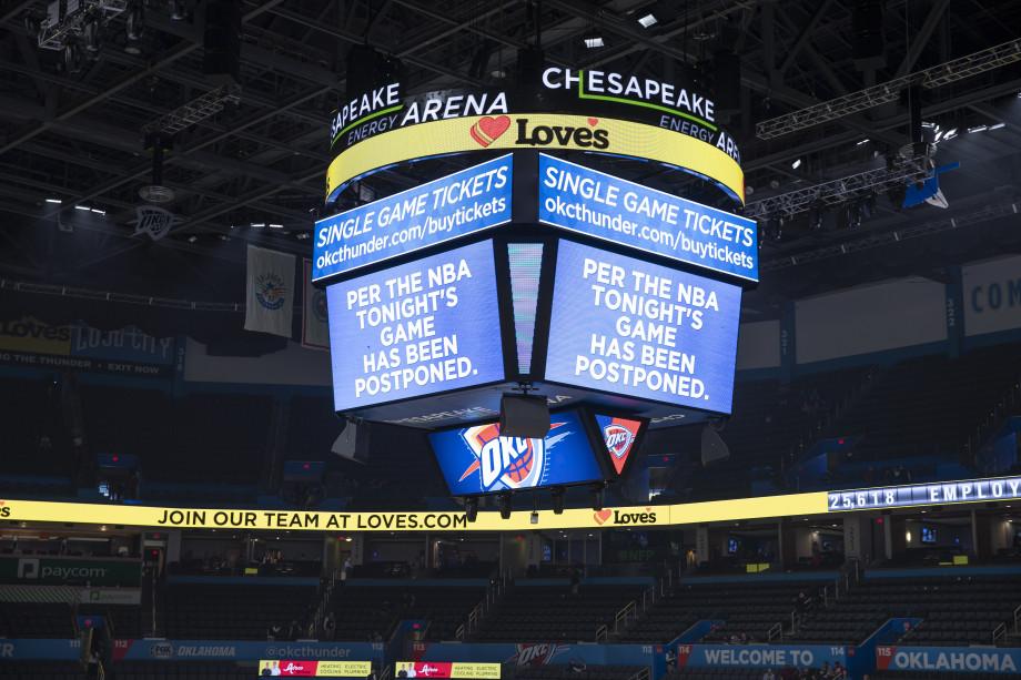 Oklahoma City Chesapeake Arena Big Board March 2020