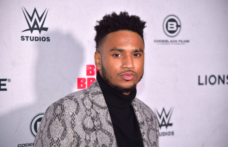 """Trey Songz attends the """"Blood Brother"""" New York Screening at Regal Battery Park 11"""