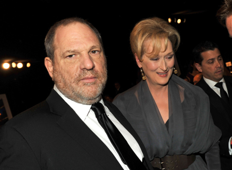 Harvey Weinstein and Meryl Streep attend the 18th Annual Screen Actors Guild Awards