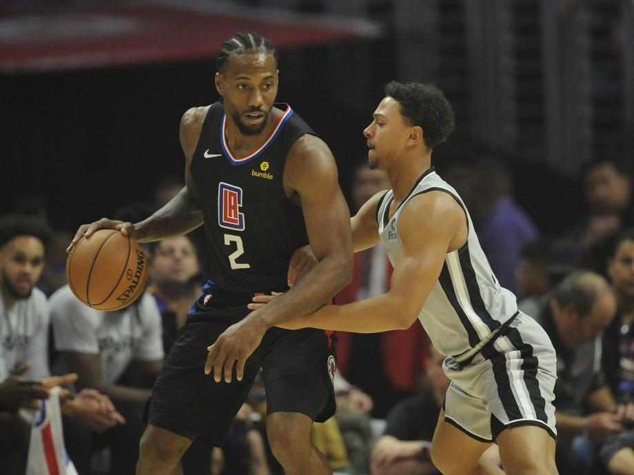 Kawhi Leonard Bryn Forbes Clippers Spurs LA 2019