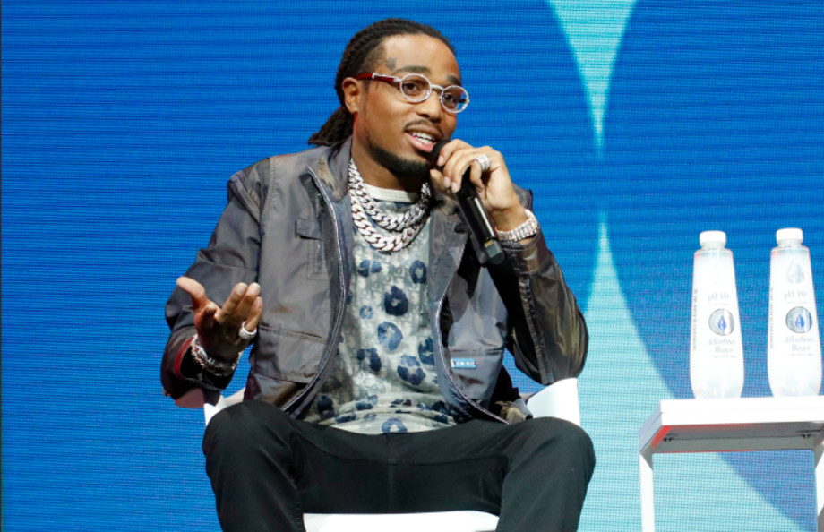 Quavo speaks during the 2019 Forbes 30 Under 30 Summit