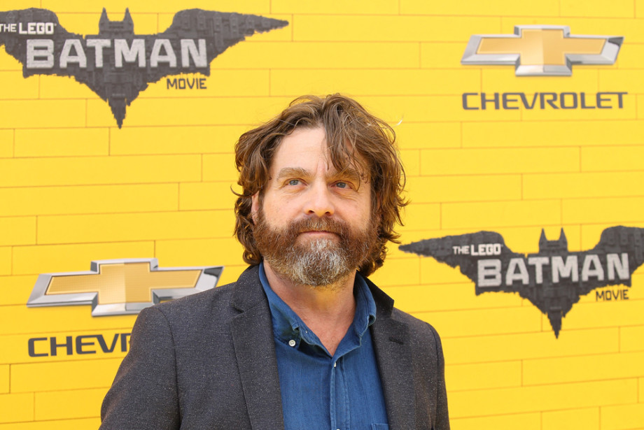 Zach Galifianakis arrives at the Los Angeles premiere of 'The LEGO Batman Movie'