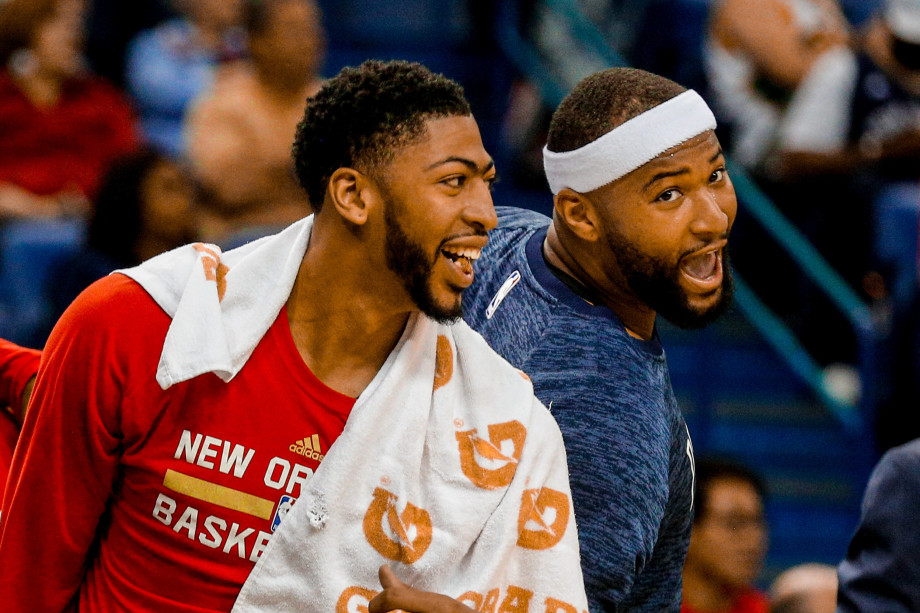 Anthony Davis DeMarcus Cousins March 2017 Pelicans Kings