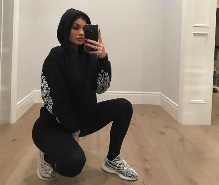 Kylie Jenner wearing Yeezys