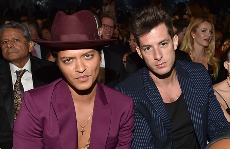 This is a photo of Bruno Mars and Mark Ronson.