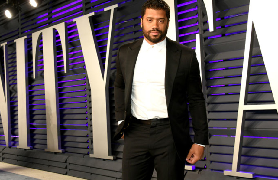 Russell Wilson at some Vanity Fair thing