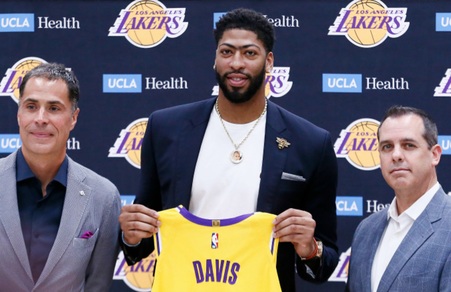 General Manager Rob Pelinka and Head Coach, Frank Vogel introduce Anthony Davis