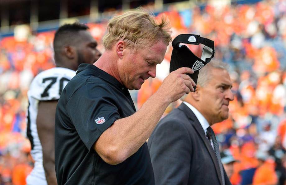 Head coach Jon Gruden of the Oakland Raiders.