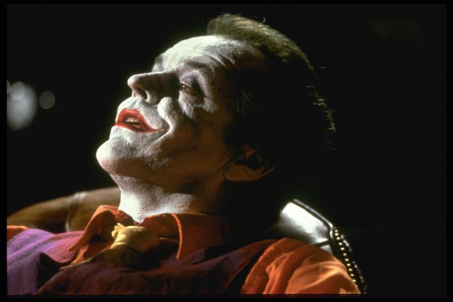 Jack Nicholson plays the Joker in the movie 'Batman'