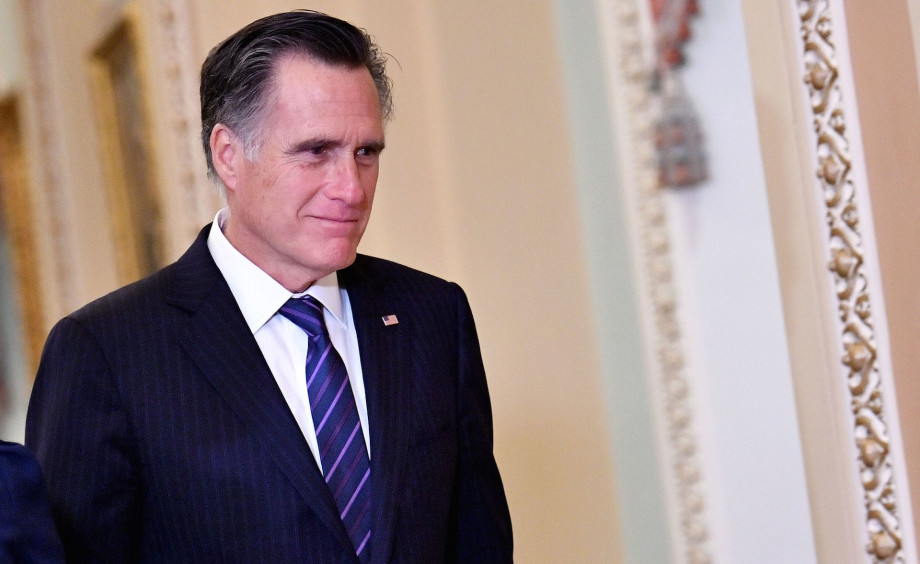 US Senator Mitt Romney (R-UT) is seen during a recess