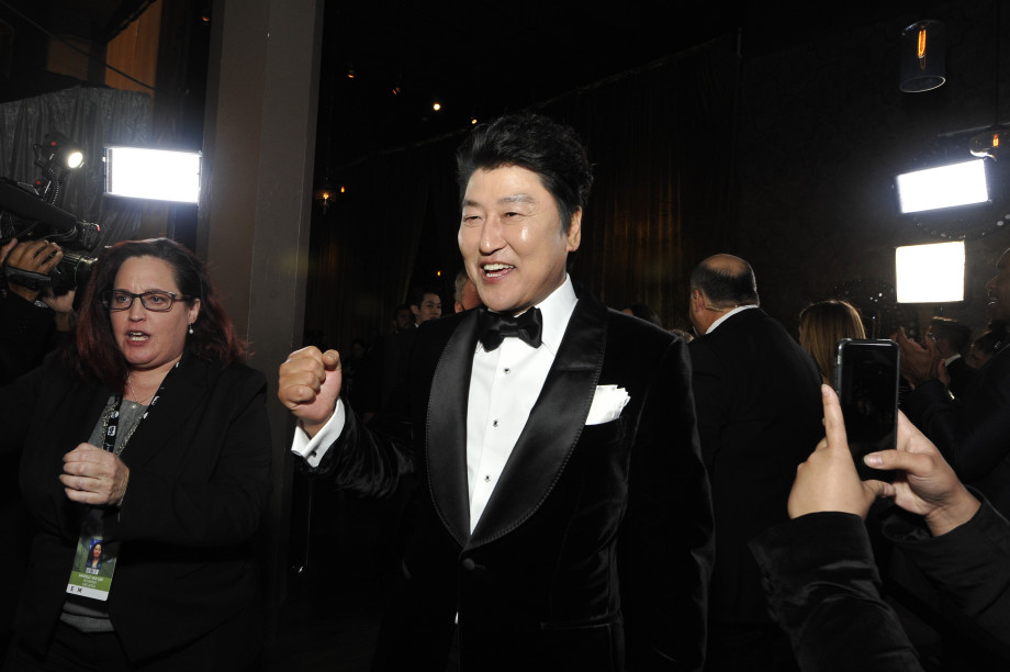 Song Kang-ho in black tuxedo and bow tie
