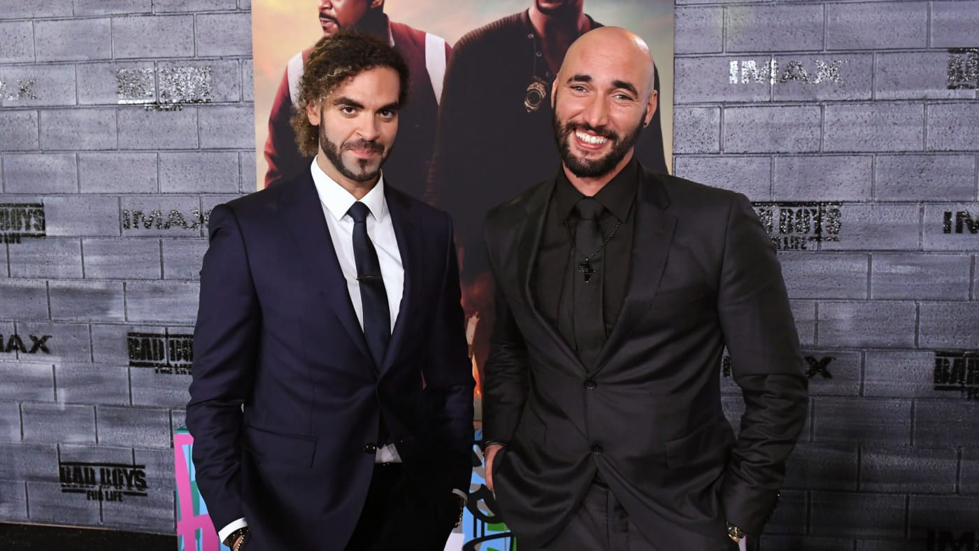 """Adil El Arbi and Bilall Fallah attend the premiere of """"Bad Boys For Life."""""""