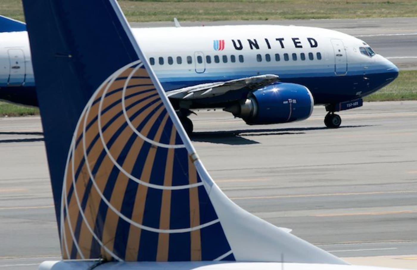 A United Airlines airplane.