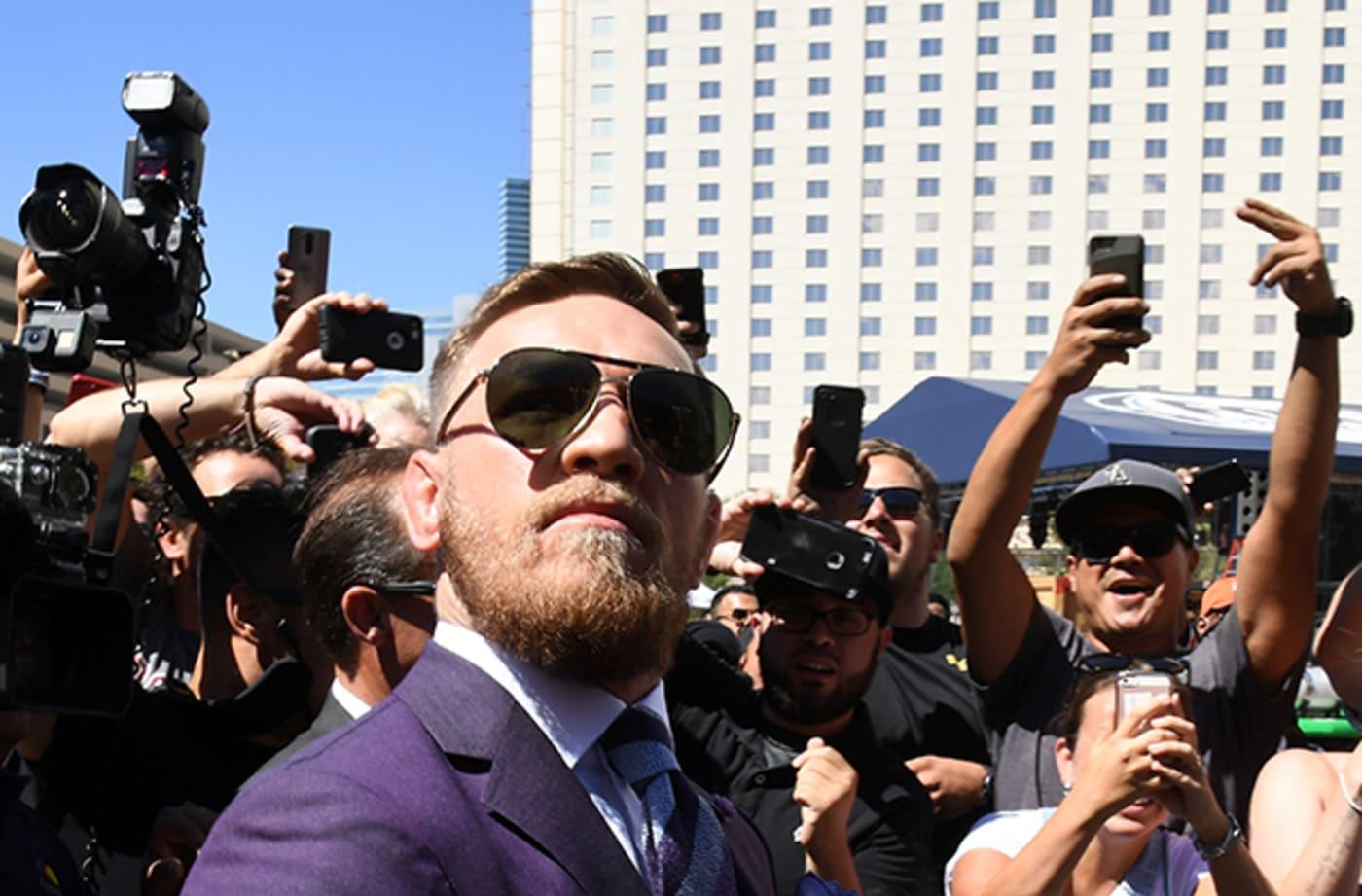 Conor McGregor arrives at Toshiba Plaza