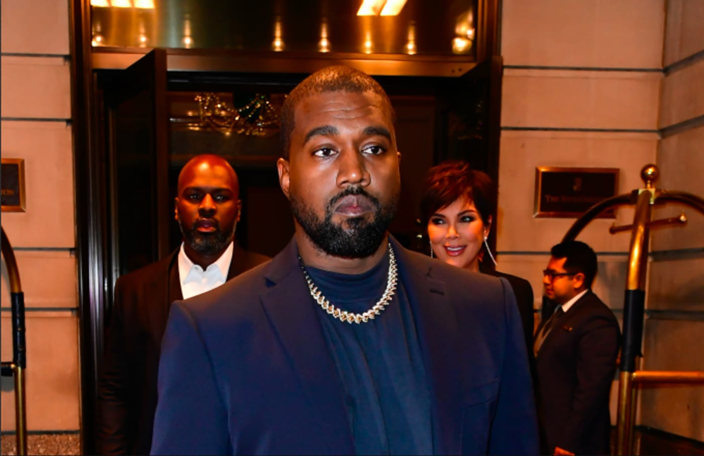 Kanye West is seen out and about in Manhattan