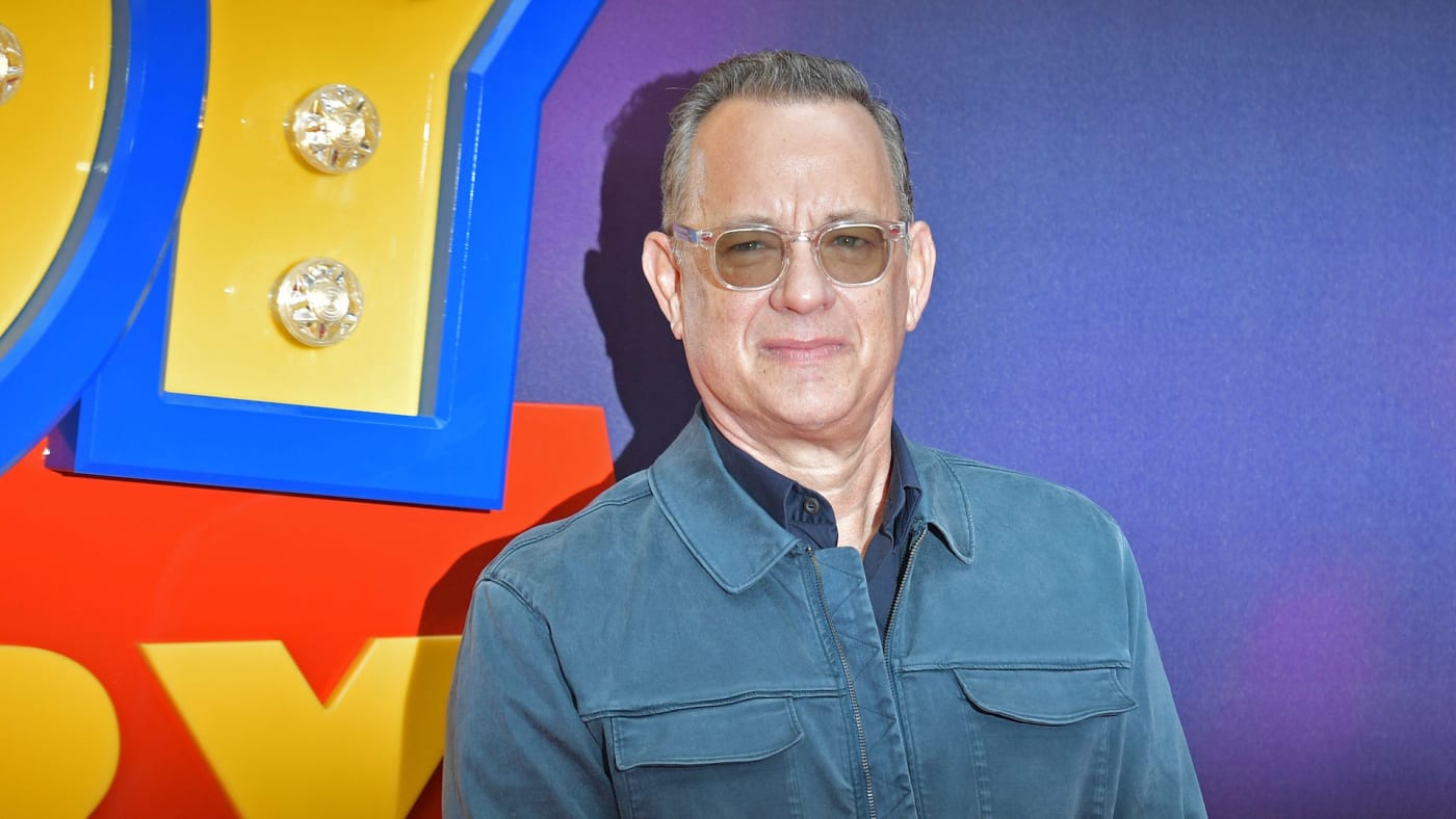 Tom Hanks on the red carpet upon arriving for the European premiere of the film Toy Story 4.