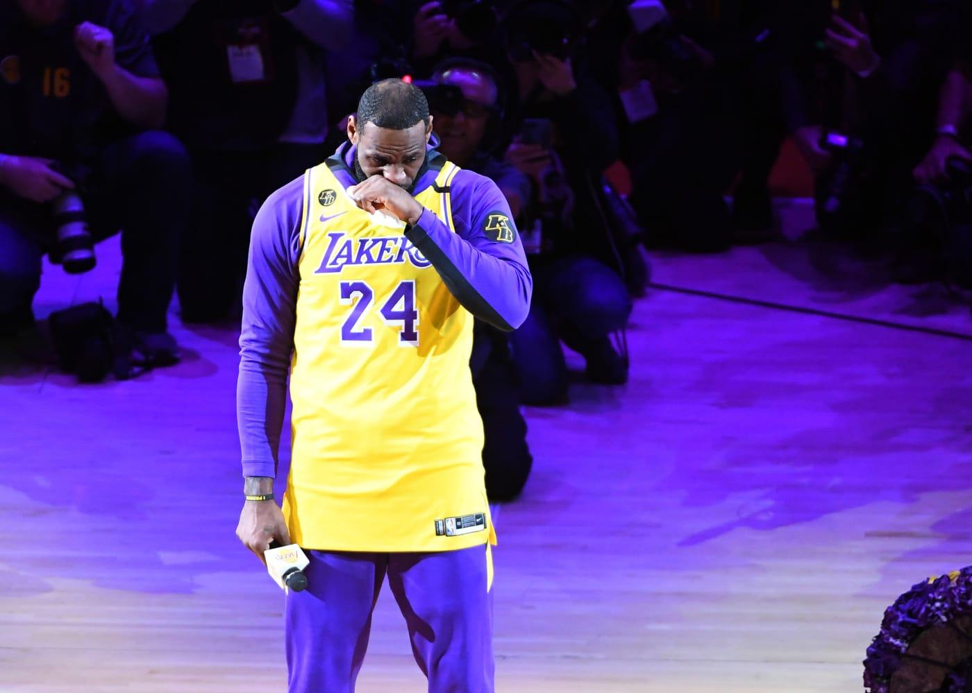LeBron James Kobe Bryant Tribute Speech Jan 31 2020