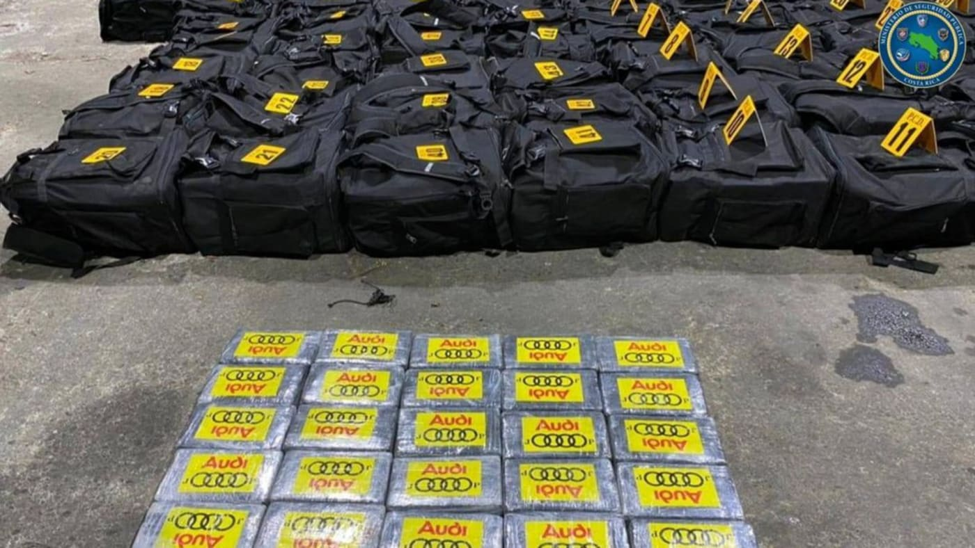 Photo taken from Reuters post on Costa Rican police drug bust of 4.3 tons of cocaine.