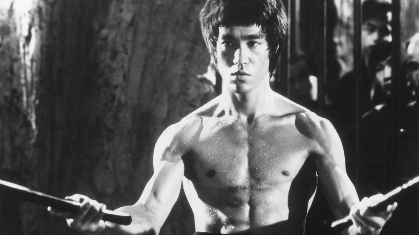 Chinese-American martial arts exponent Bruce Lee (1940 - 1973), in a still from the film 'Enter The Dragon', directed by Robert Crouse for Warner Brothers.