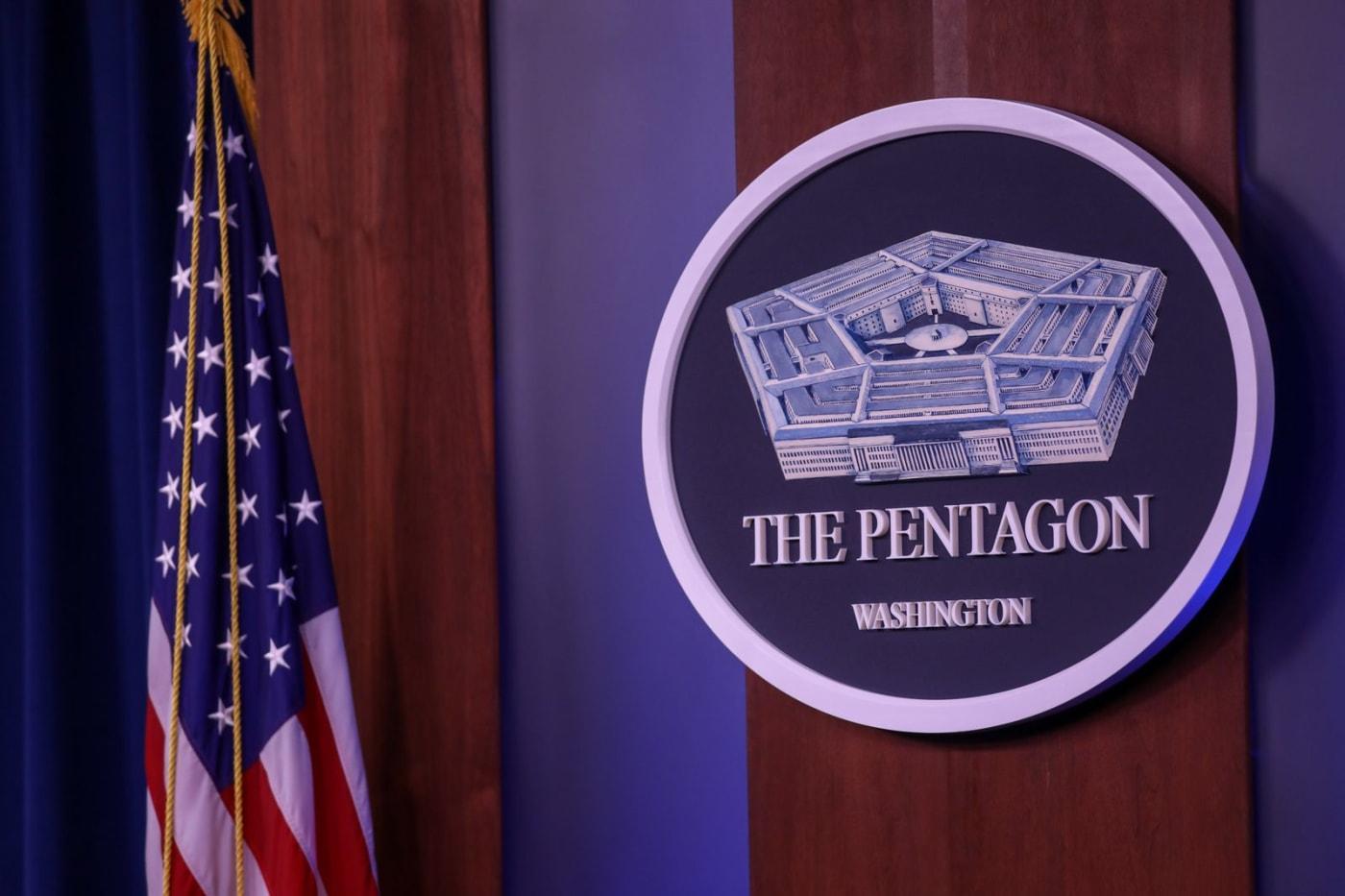 Pentagon podium