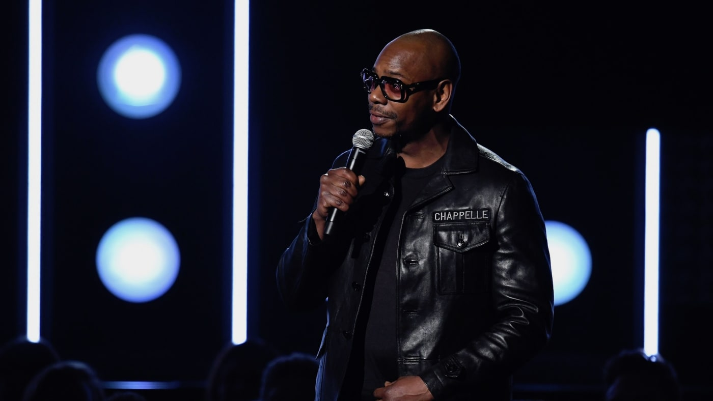Dave Chappelle speaks onstage during the 60th Annual GRAMMY Awards at Madison Square Garden.