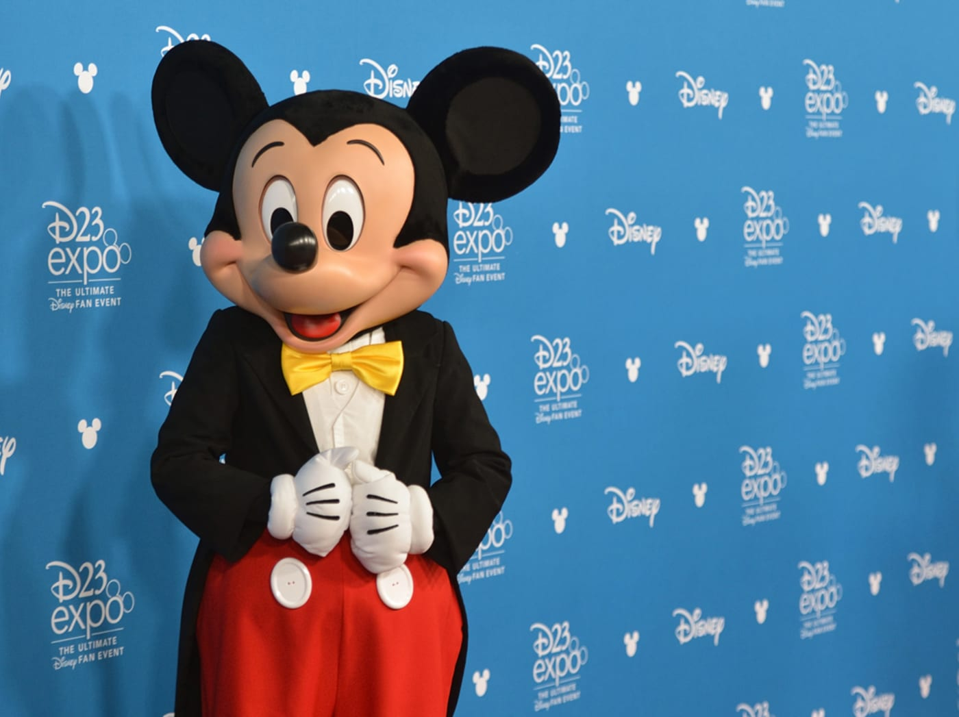 Mickey Mouse on the red carpet during the Disney Legends awards during the D23 Expo