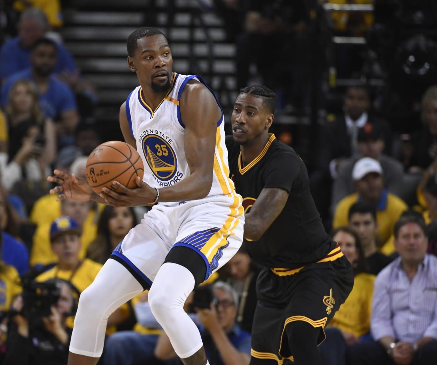 Kevin Durant Game 2 NBA Finals Iman Shumpert 2017