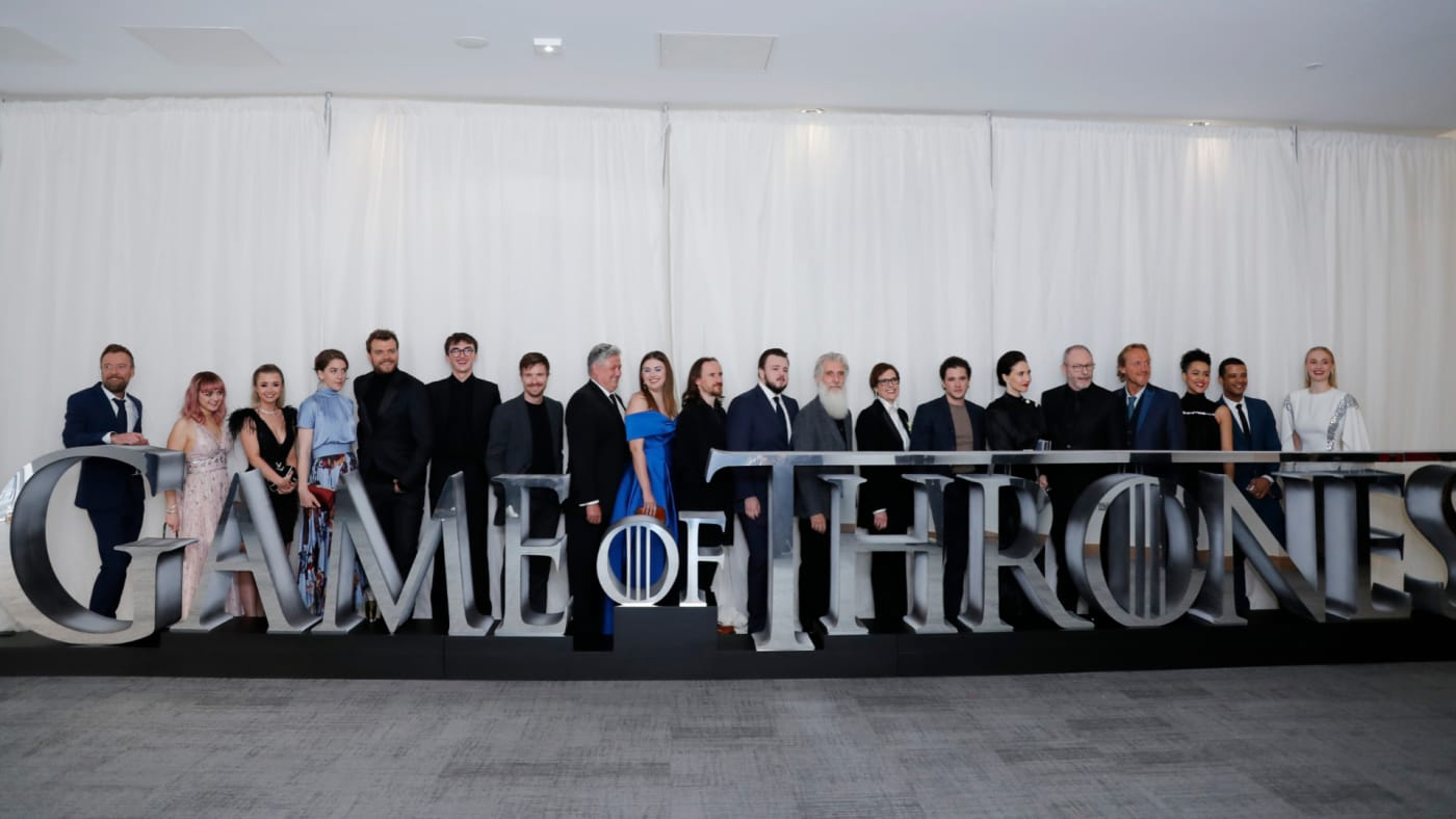 Cast and crew attend the Sky Atlantic 'Game of Thrones' Season 8 premiere.