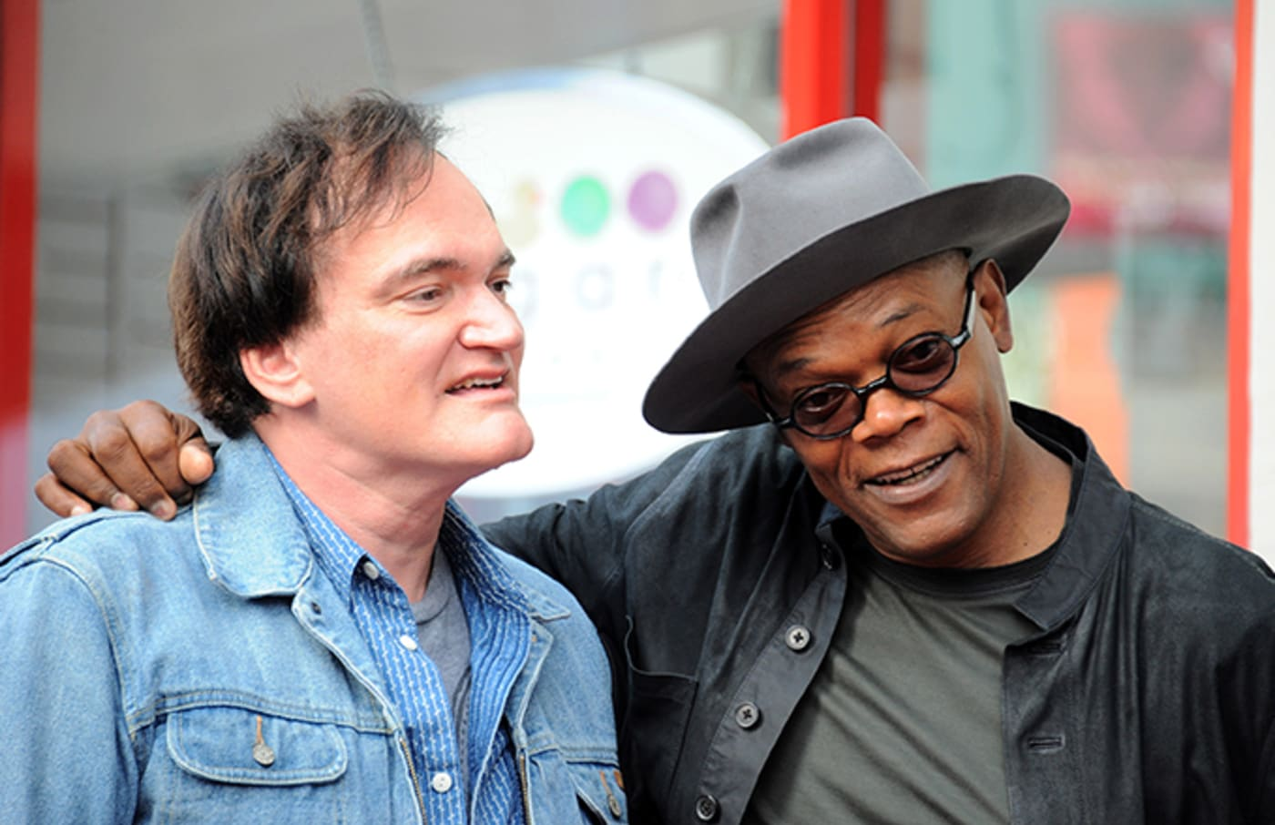Tarantino and Samuel L Jackson