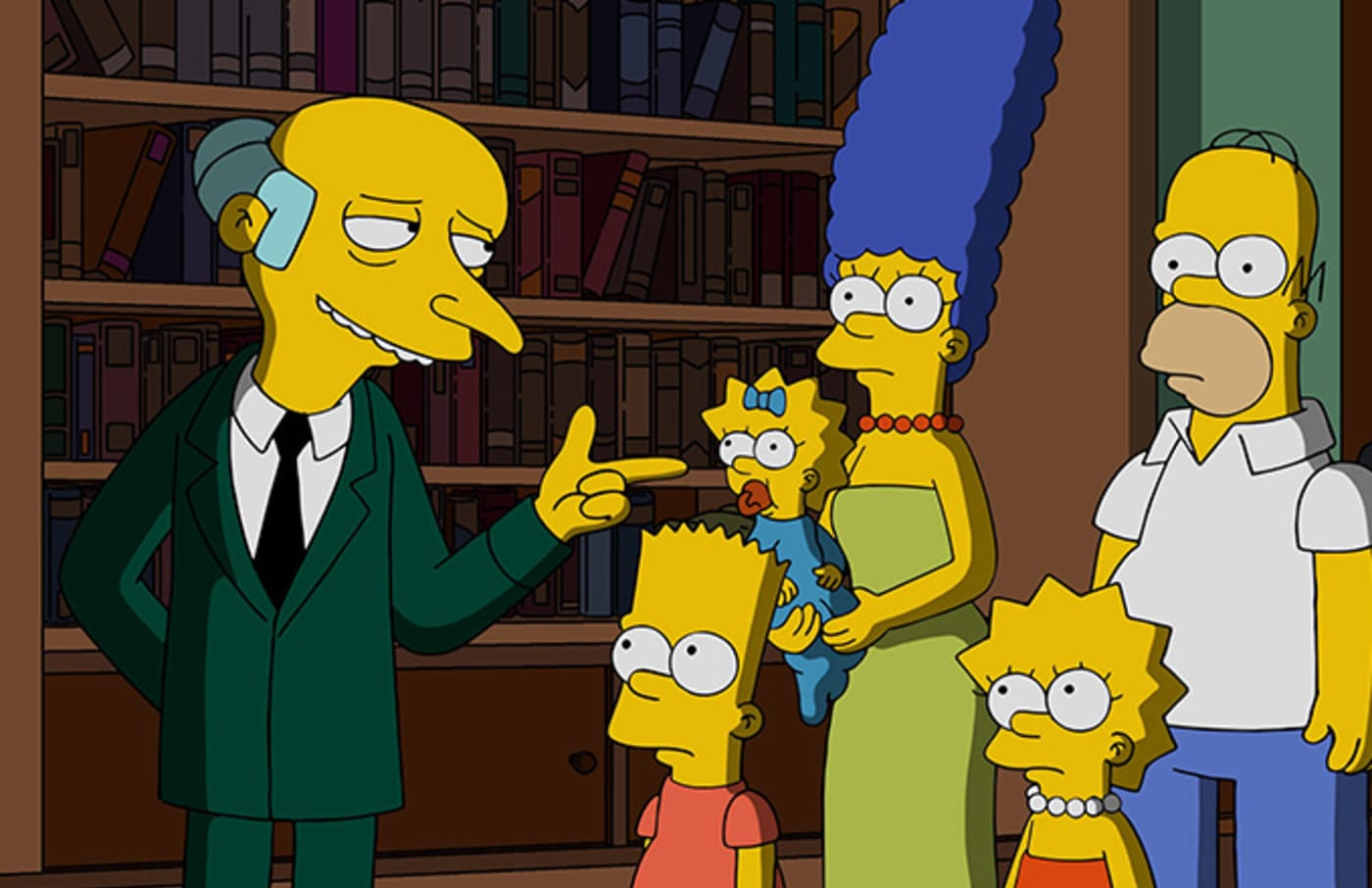 This is a photo of the Simpsons.