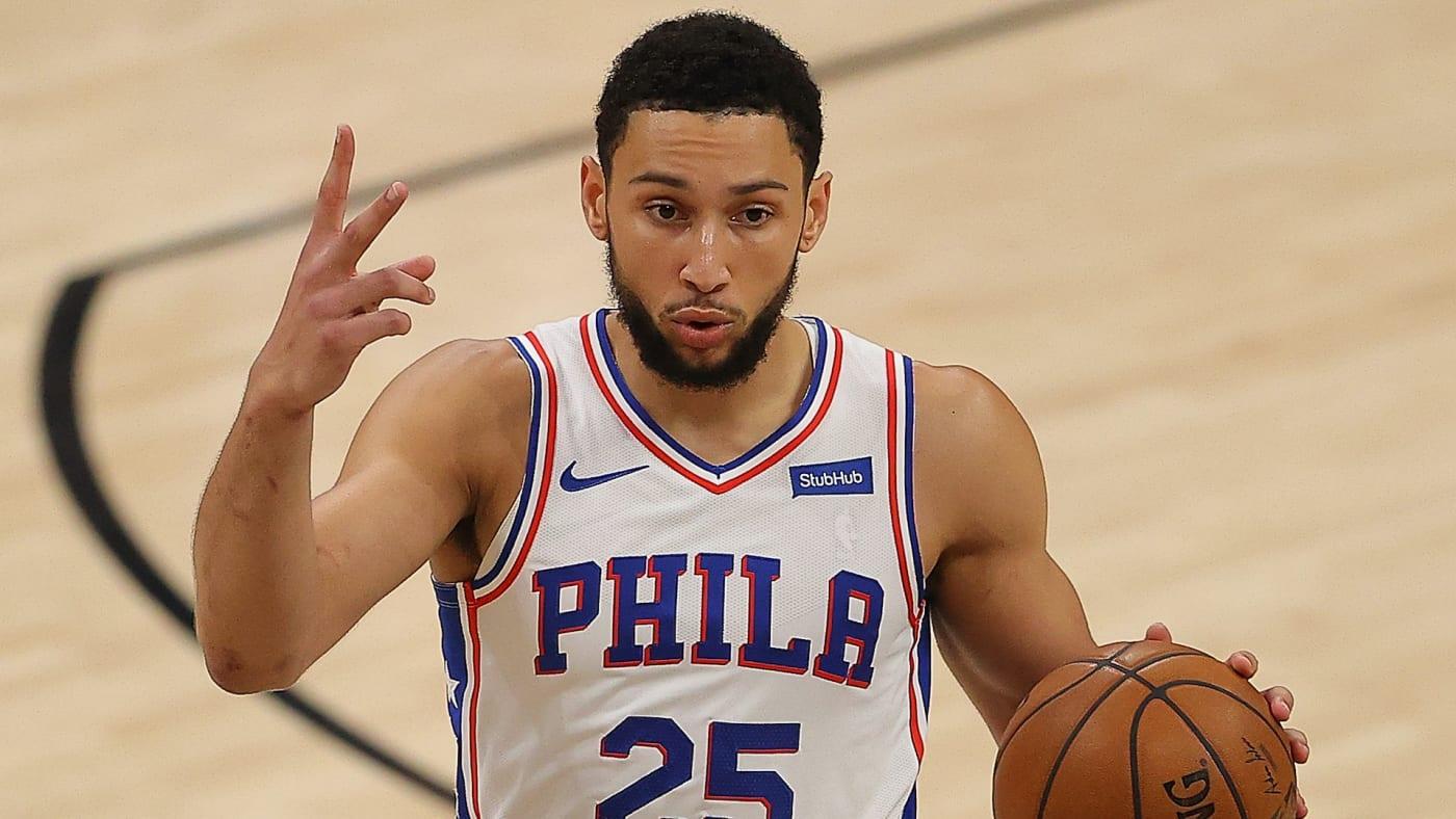 Ben Simmons reports to practice in Philadelphia.