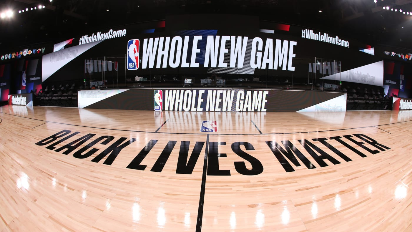 A general overall interior view of the court as part of the NBA Restart