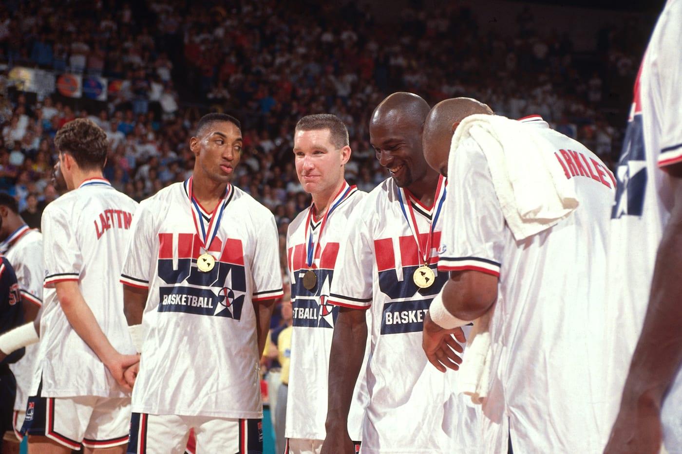 Scottie Pippen, Chris Mullin, Michael Jordan and Charles Barkley 1992 U.S. Men's Olympics Basketball Gold Medals