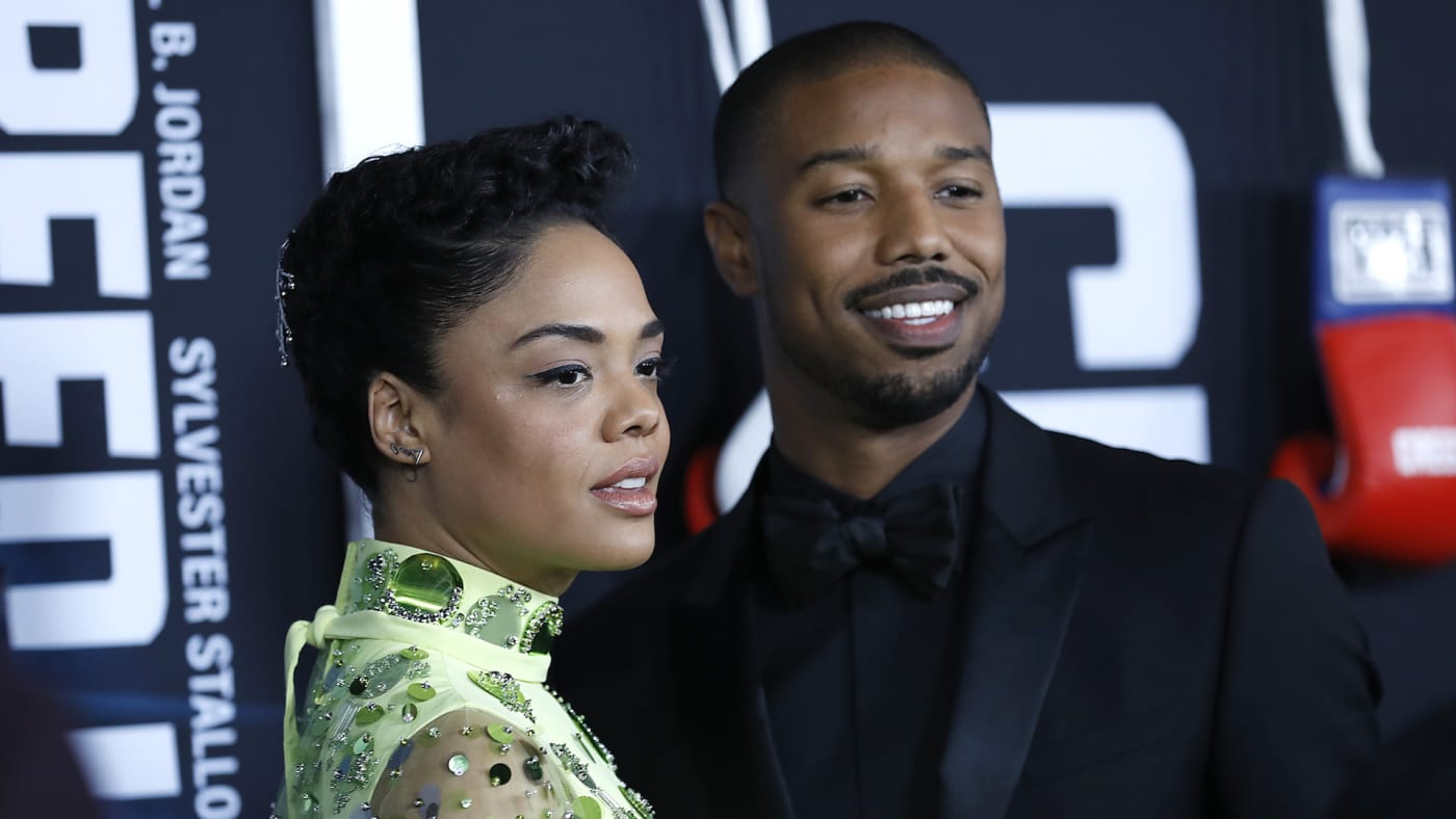 "Tessa Thompson and Michael B. Jordan attend ""Creed II"" New York Premiere"