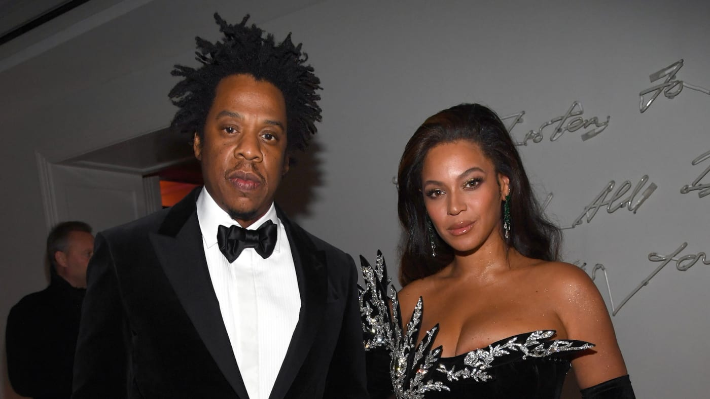 Jay Z and Beyoncé Knowles Carter attend Sean Combs 50th Birthday Bash