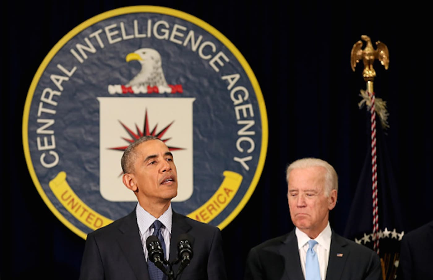 Obama and Biden at CIA