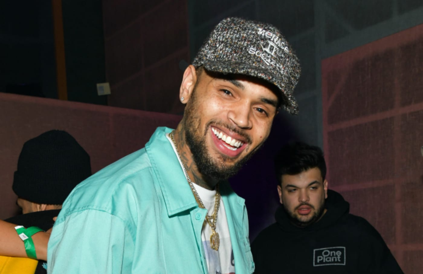 Chris Brown poses for portrait at his album listening event