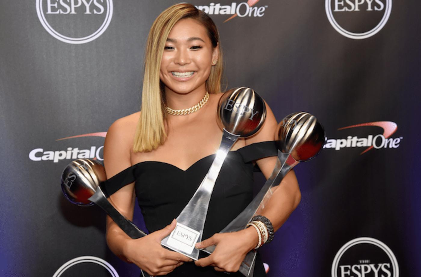 Chloe Kim at the 2018 ESPYs.