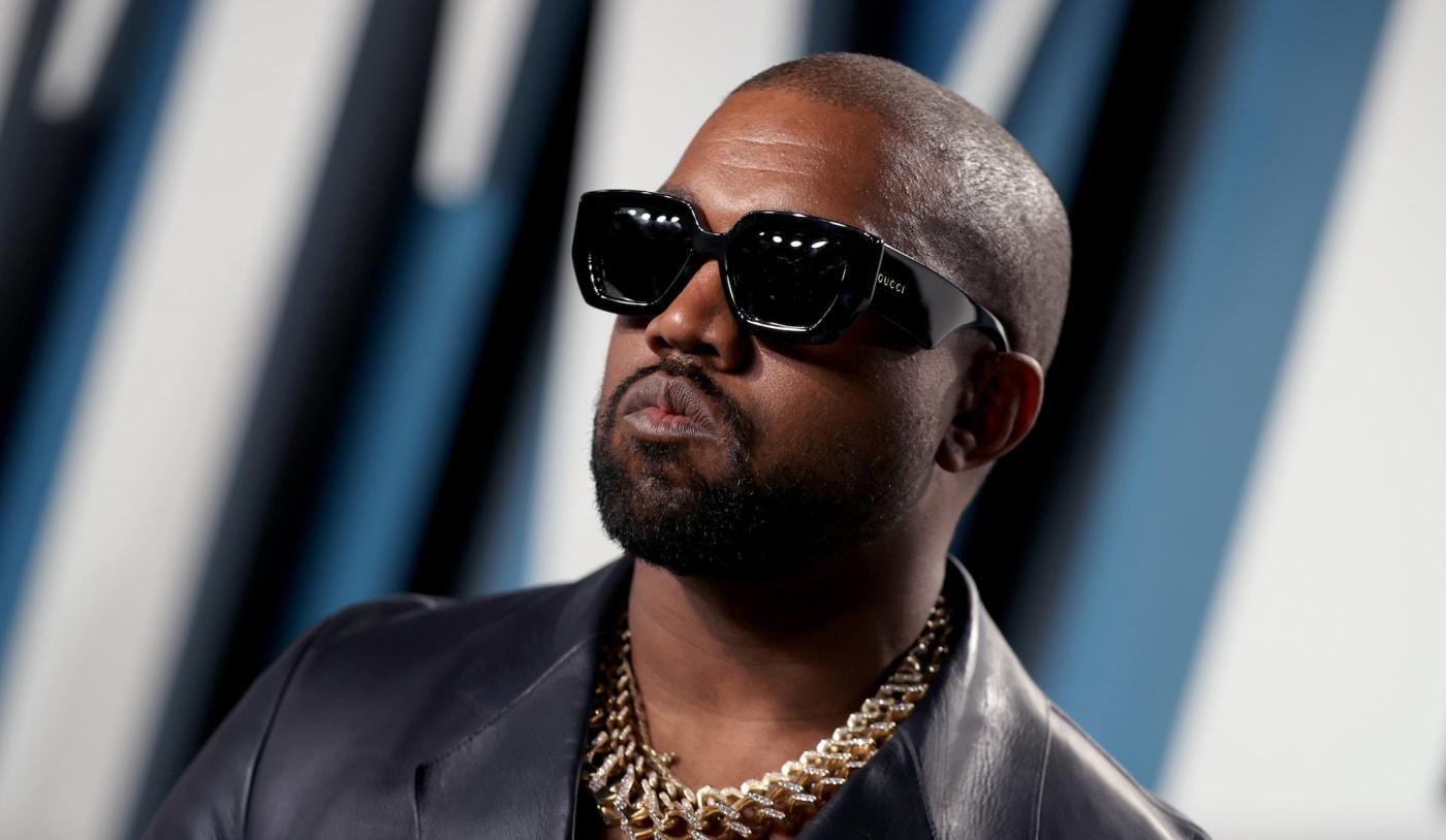 Kanye West at Vanity Fair party