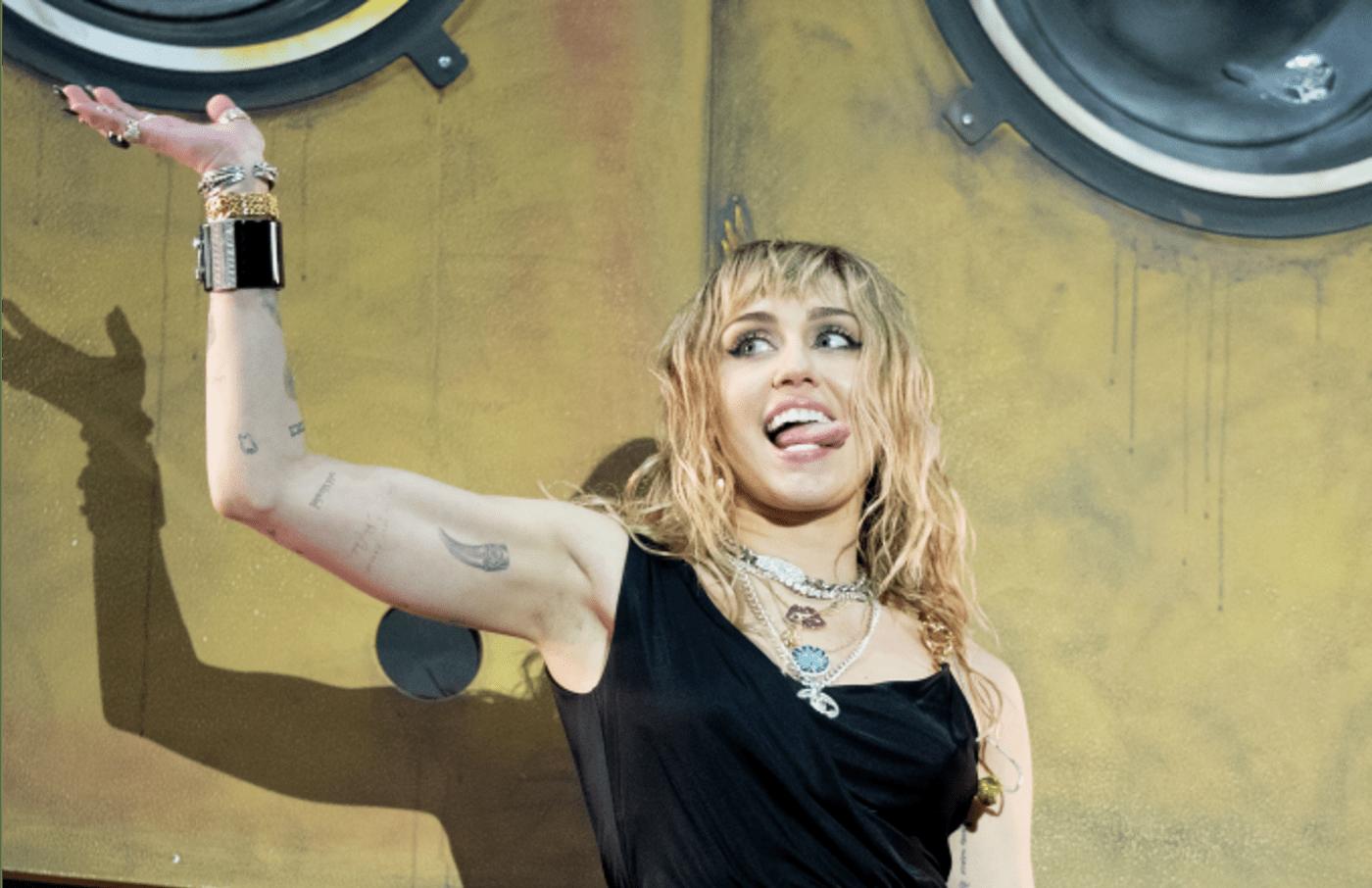 Miley Cyrus performs at the Radio 1 Big Weekend