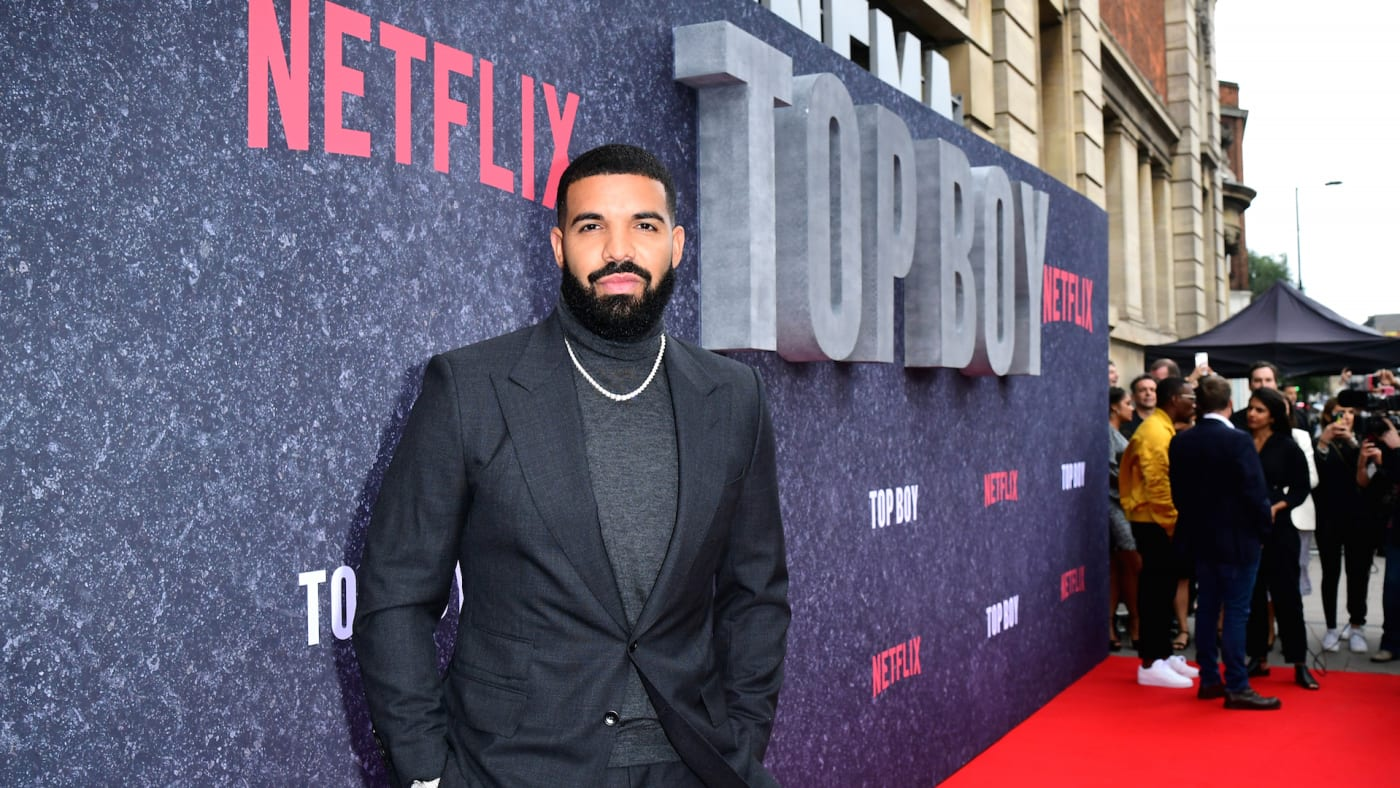 Drake attending the UK premiere of Top Boy at the Hackney Picturehouse in London